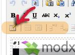 ModX: дополняем редактор TinyMCE кнопками вставки таблиц (Table controls)
