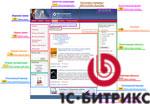 Прототип шаблона дизайна сайта в 1С-Битрикс