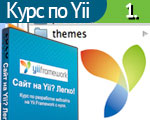 Курс по Yii с нуля. Урок 1. Устанавливаем Yii на локальном компьютере. Заводим проект будущего сайта.