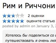Yii: Добавляем рейтинг статей CStarRating с возможностью оценивать статью зарегистрированным пользователям