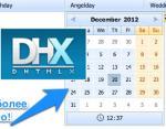 DHTMLX: Устанавливаем тип поля dhxCalendarA (всплывающий календарь) для полей типа date (datetime) в компоненте dhtmlxGrid
