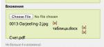 Yii: Форма Contact Form с загрузкой файлов CMultiFileUpload и отправка на email с YiiMailer