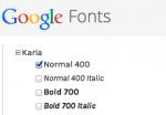 Добавление сторонних шрифтов от Google на свой сайт