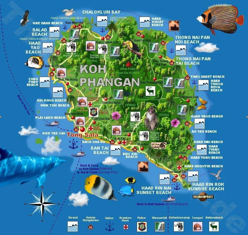 карта пангана в таиланде